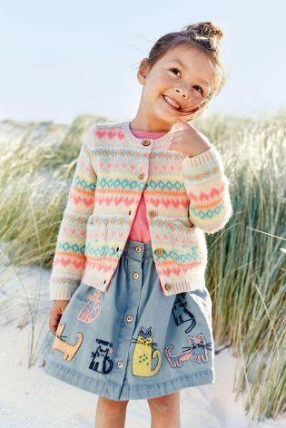 fair isle cardi and skirt   little things for littles.   Pinterest ...