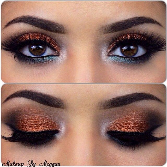 Bronze Eye Shadow, Desi Bride, Desi Makeup, Indian Wedding