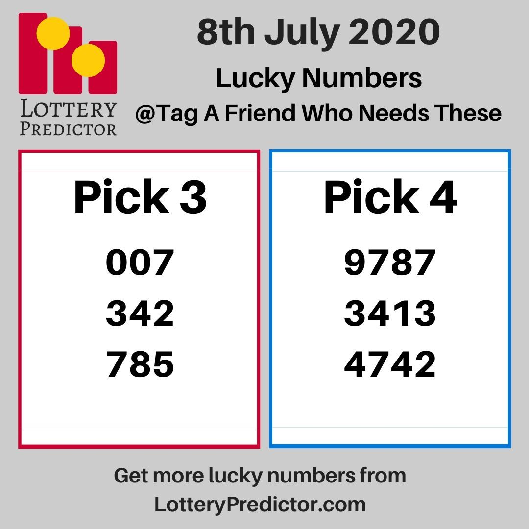 Lucky Lottery Numbers For Wednesday 8th July