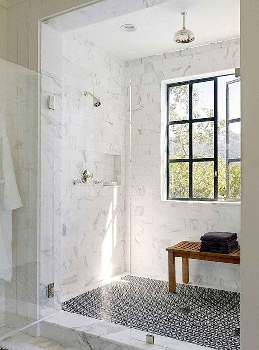 150 Stunning Farmhouse Bathroom Tile Floor Decor Ideas And Remodel To Inspire Your Bathroom 64 Window In Shower Modern Farmhouse Bathroom Beautiful Bathrooms