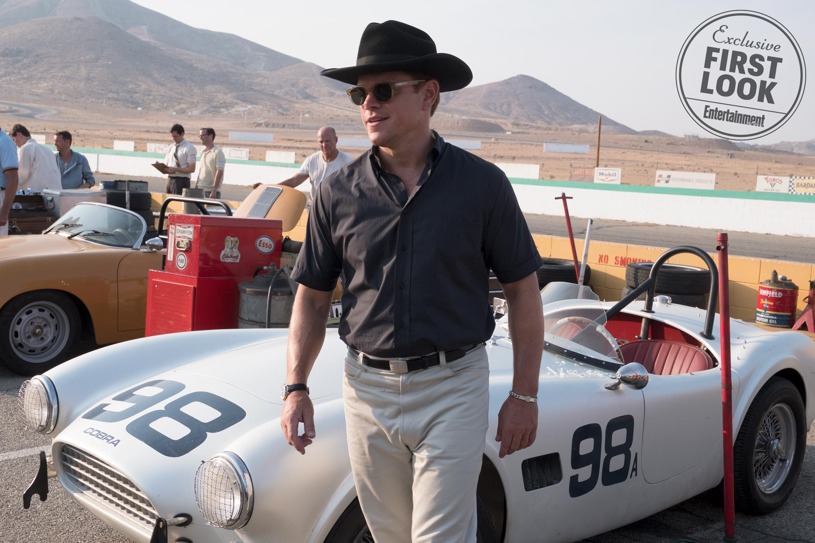Exclusive Christian Bale Matt Damon Strap In For Ford V Ferrari