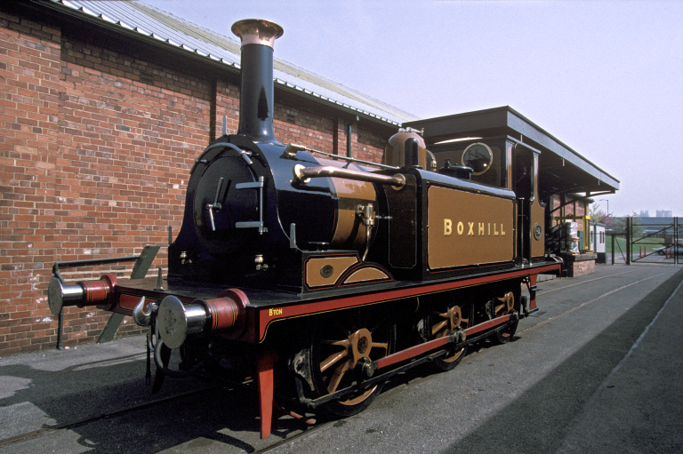 Boxhill - LBSCR 0-6-0T No 82 - The engine was restored by the Southern Railway to original condition (it had remained as an A1, not having been rebuilt as an A1X) and used at exhibitions, The National Railway Museum, York