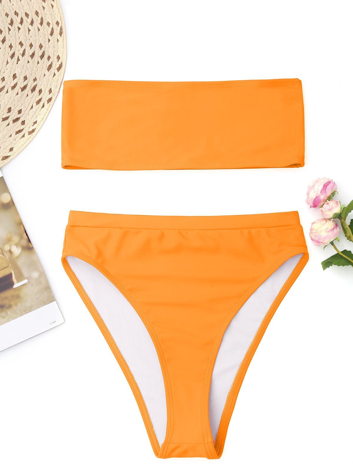 6a67f61178578 ZAFUL 2018 High Cut Bandeau Bikini Set Women Sexy Brazilian Bikini Swimwear  Push Up Padded Swimsuit