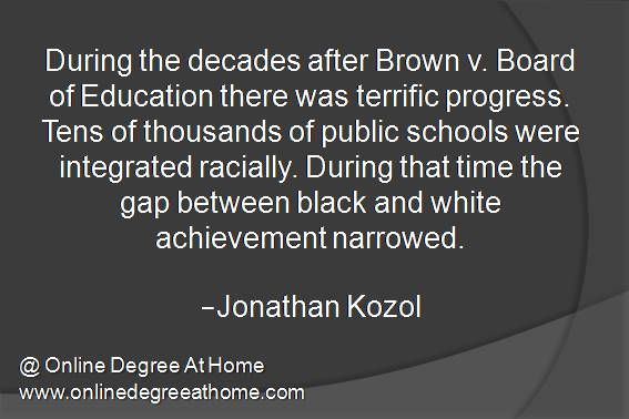 Quotes About Education. During The Decades After Brown V