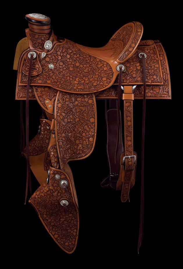Pedro Pedrini\'s saddle on a Homestead Wade tree The sterling silver ...