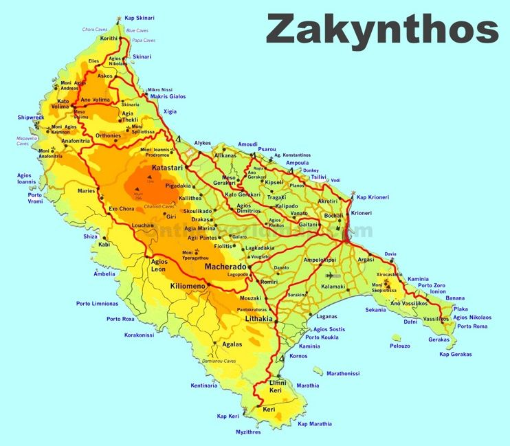 Zakynthos travel map maps pinterest travel maps and greece islands zakynthos travel map gumiabroncs Images