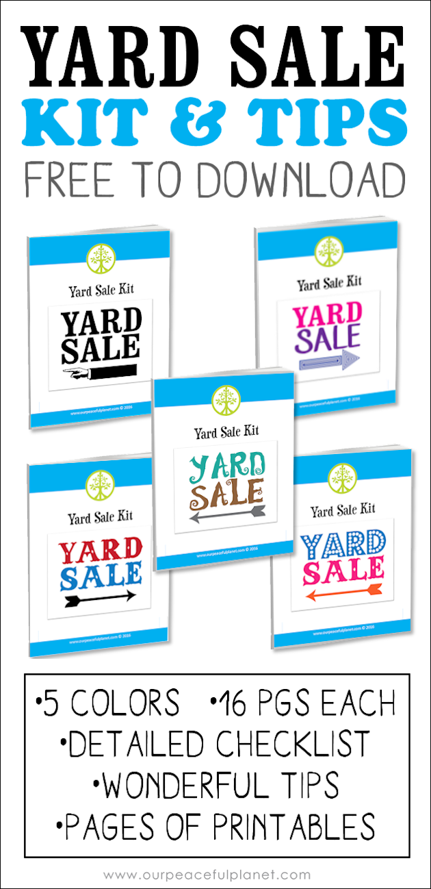 A Yard Sale Is Great Way To Declutter And Make Some Extra Cash Grab One Of Our Printable Kits With Tips Checklist That Will Assure Your Success