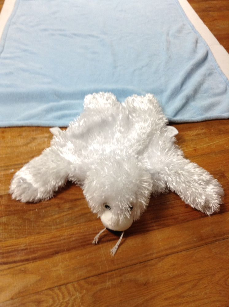 Zoobies Baby Harp Seal Plush Lovesac Pet Pillow Security Blanket
