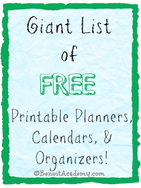 picture about Free Printable 5.5x8.5 Planner Pages identify Big Checklist of Absolutely free Printable Planners, Calendars, Organizers