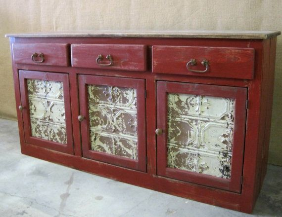 Gorgeous Barn Red 3 Drawer 3 Door Buffet / By ZacoCreations, $995.00 | Home  Ideas | Pinterest | Buffet, Barn And Drawers