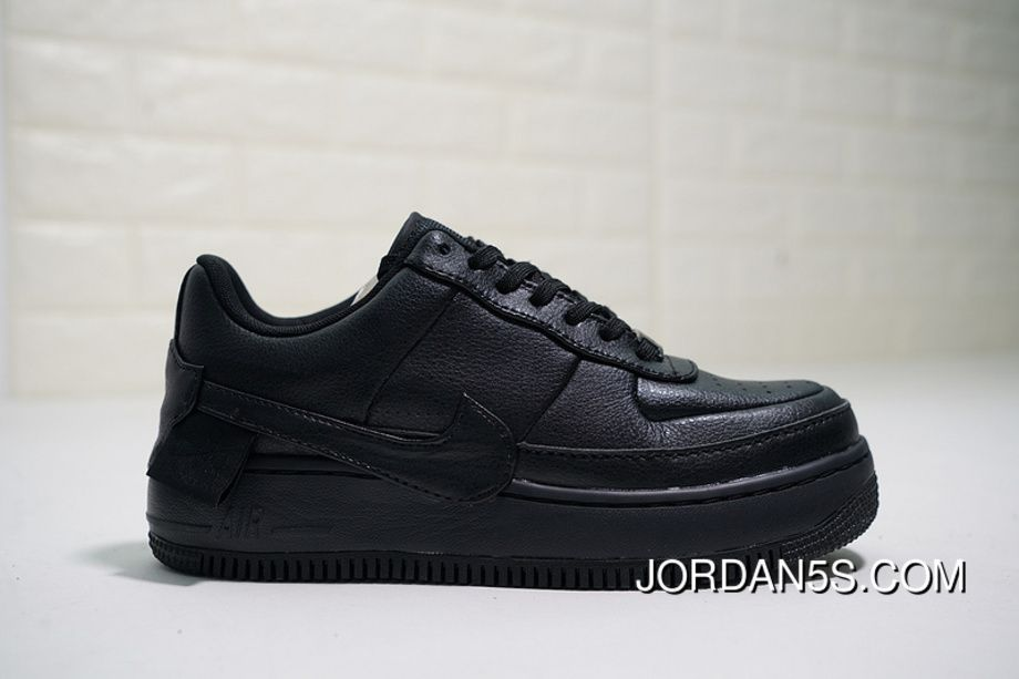 63a669fe39610 Nike WMNS Air Force 1 Low Jester XX AO1220-001 Womens Skateboard Shoes  Triple Black