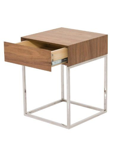 Moe S Home Collection 15 Inch Chio Side Table Black Oak Walnut
