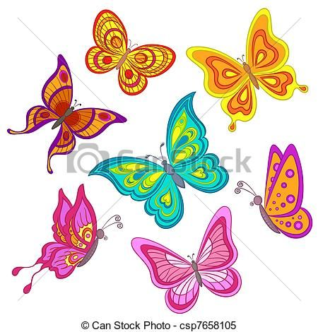 illustration ensemble papillons banque dillustrations illustrations libres de droits