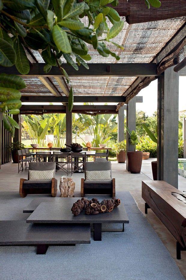 Casa de praia rústica e contemporânea Casas de praia