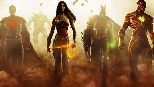 Character Promotional Art Poster Injustice Gods Among Us Ps3 Xbox 360 Wii U Wonder Woman Superhero Batman And Superman