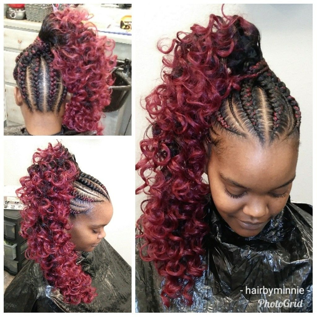Feed In Braids With Invisible Ponytail Hair By Minnie Braid