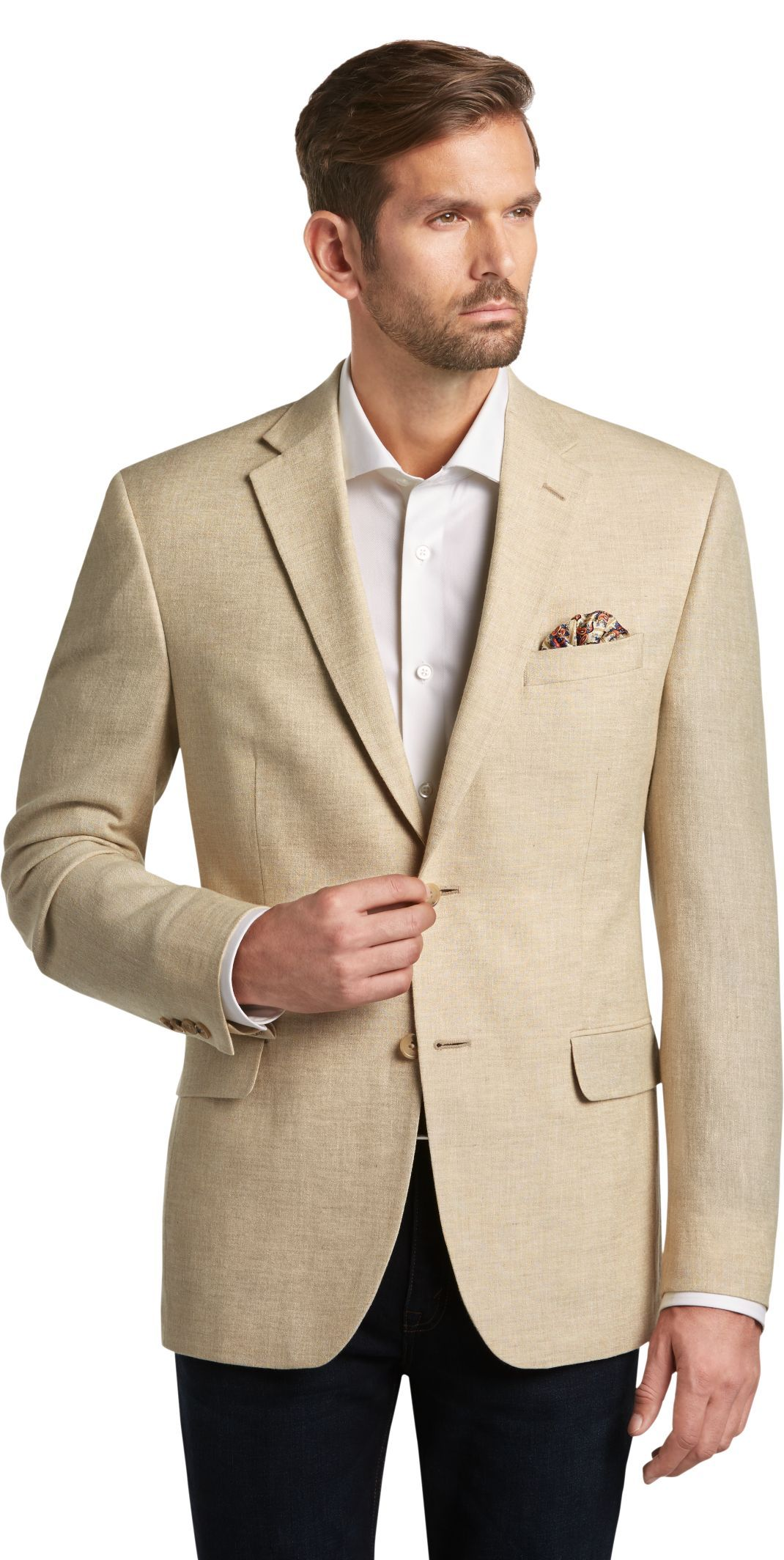 6752c9736 Executive Collection Tropical Blend Traditional Fit Woven Sportcoat  CLEARANCE