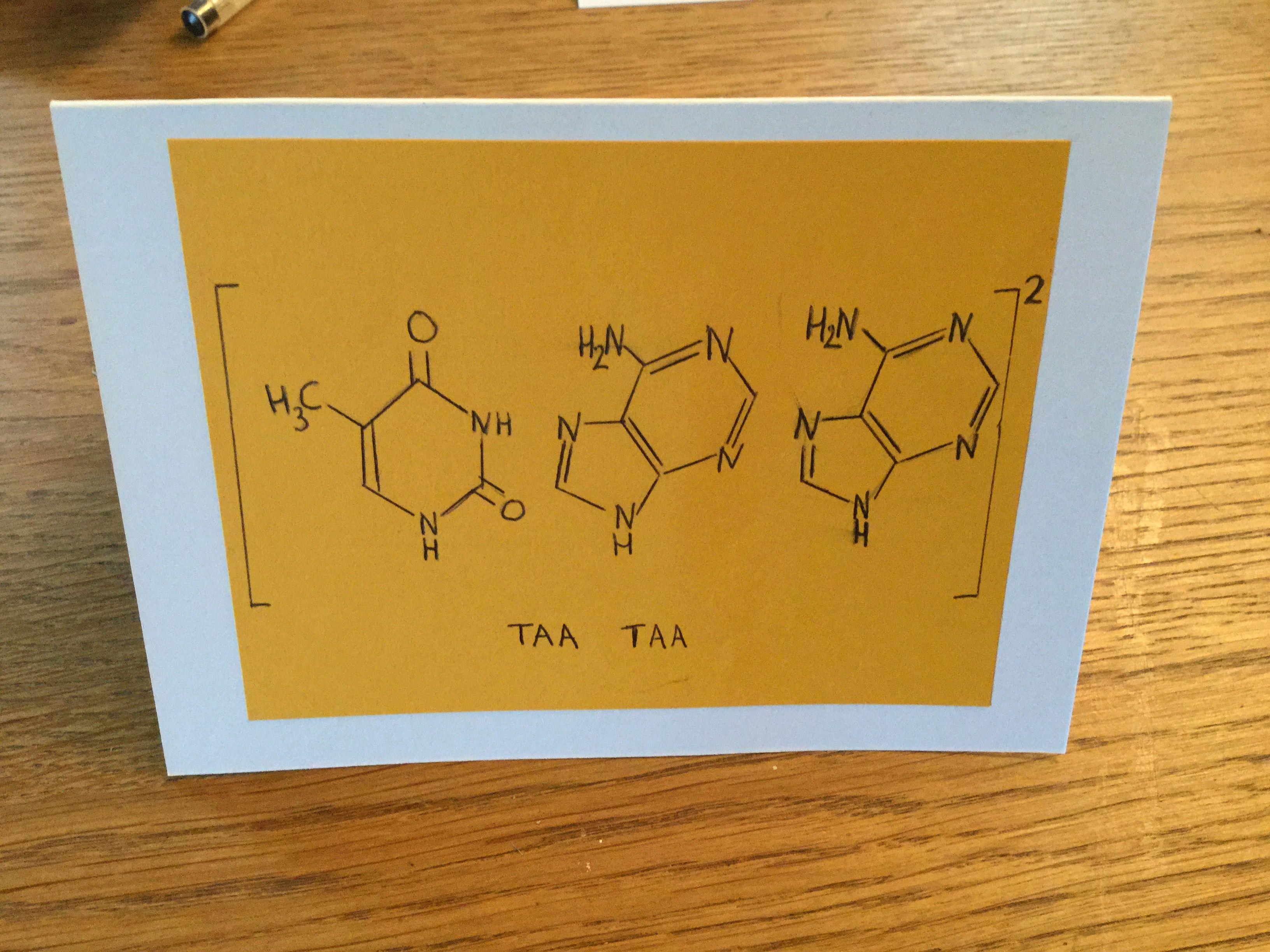 Geeky Thank You Card For Biology Teachers Taa Taa Using Dna Stop Codons Teachers Day Card Teacher Cards Physics Teacher