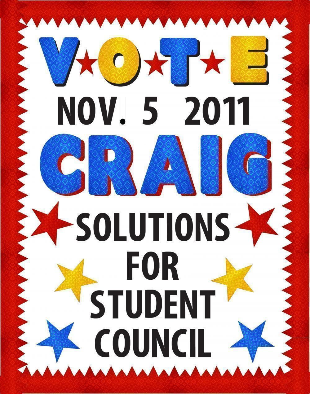 Make a School Election Poster | Voting for Student Council Poster ...