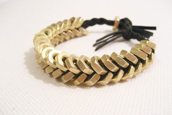 Hex nut bracelet. Finally, a trip to Home Depot with hubby will be fun for me!