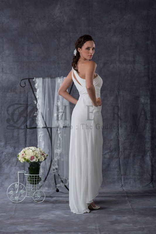 """@_KM_ Hera Bridal gown 2013 Collection """"Maple"""" - I think this sort of Roman goddess look would suit you."""