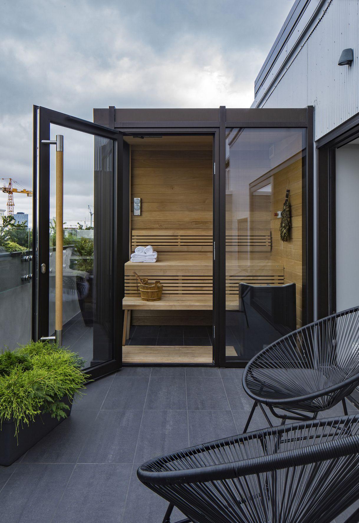Nordic Charm Blends With Modern Design At The Ion City Hotel In Reykjavik Sauna Design Modern Saunas Outdoor Sauna