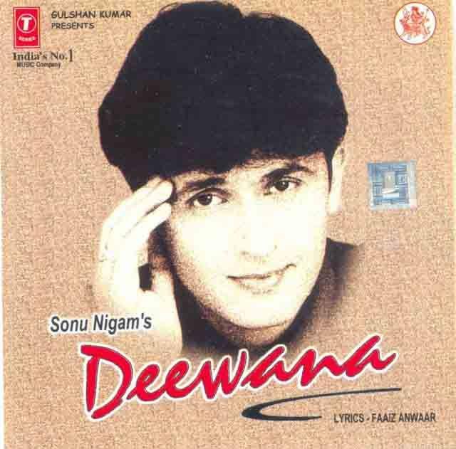 Deewana 1999 Sonu Nigam Album Poster Sonu Nigam Romantic Song Lyrics Bollywood Songs