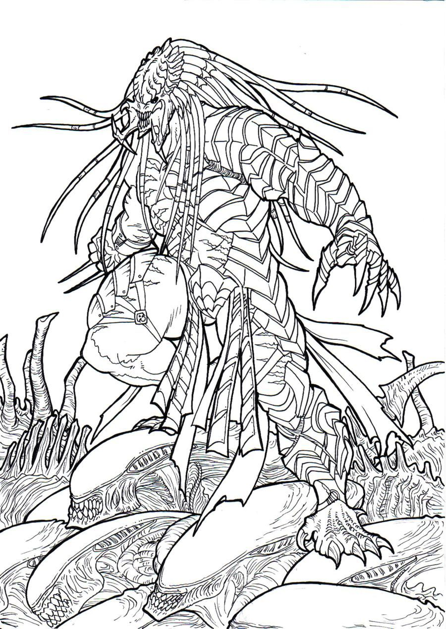 Alien Exterminator By Ronniesolano On Deviantart Predator Art Alien Vs Predator Predator Alien