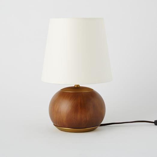 West Elm Rejuvenation Mid Century Wood Table Lamp Small