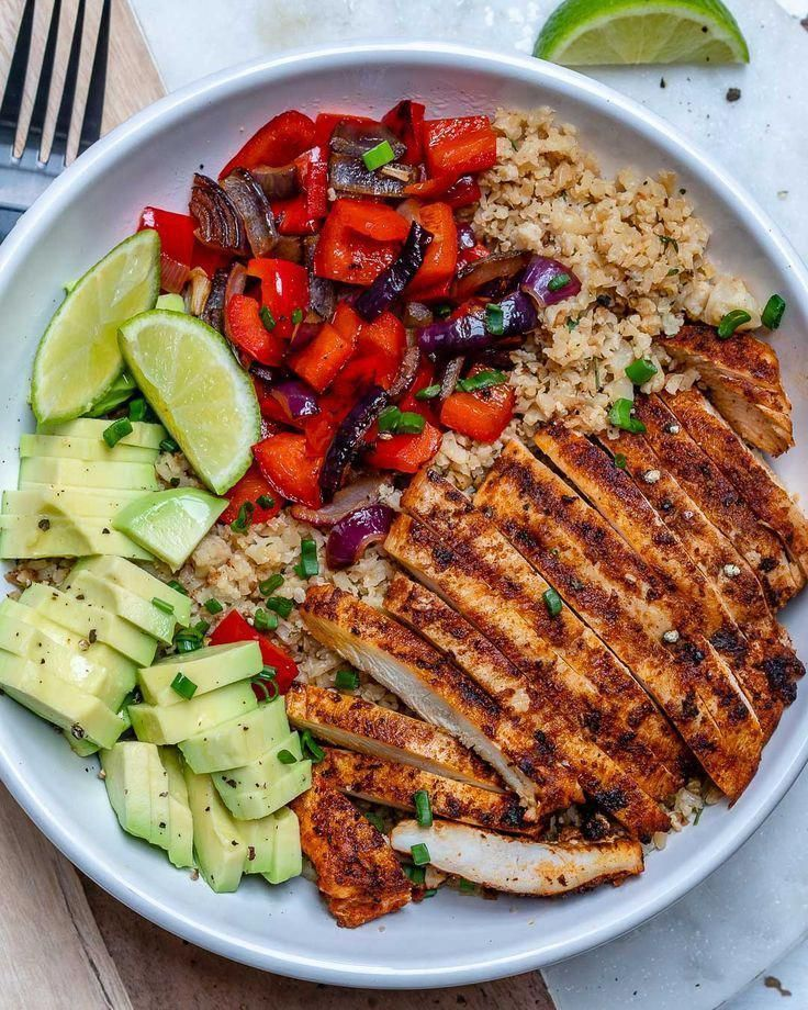 "Chicken and Cauliflower ""Rice"" Bowls are Quick and Perfect for..."