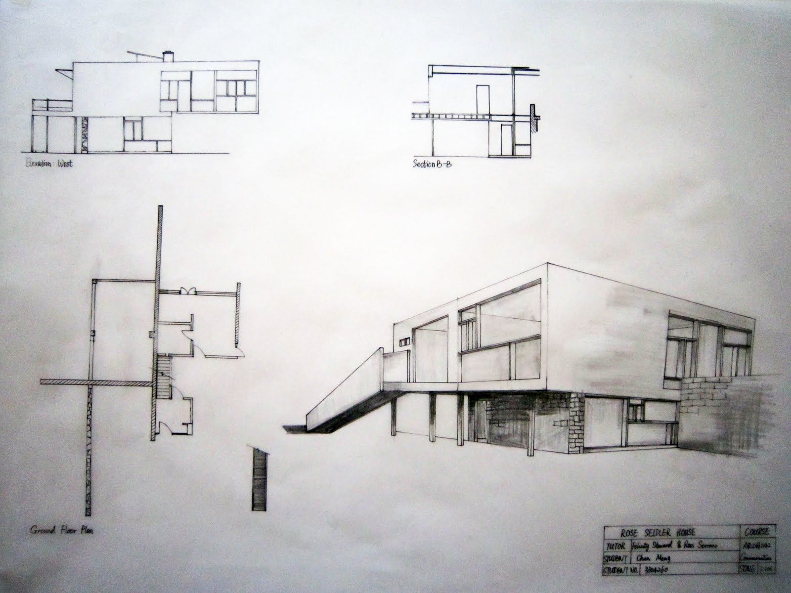 Rose Seidler Perspective Architecture Sketch Architecture House Plans