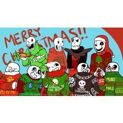AUs Papyrus & Sans x Reader (Christmas Party) | random ness