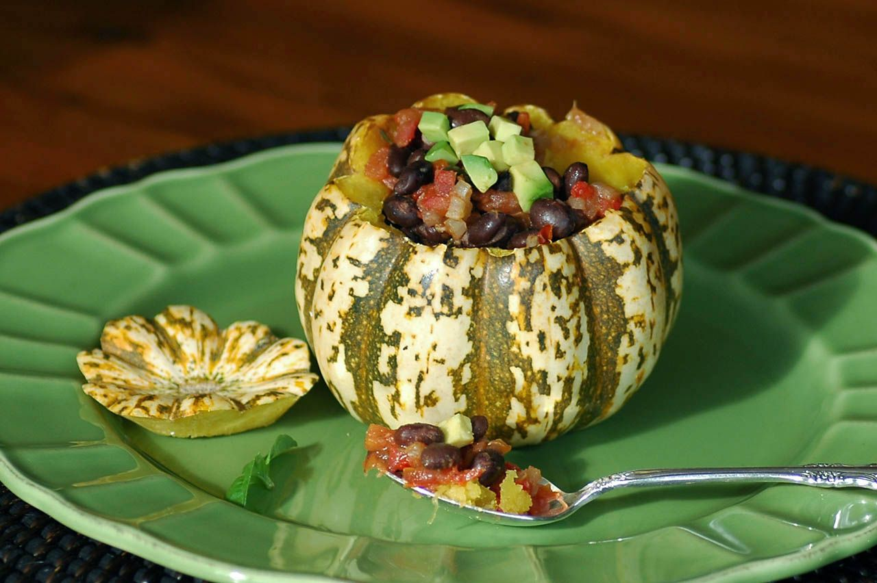 Savoring Time in the Kitchen: Black Bean Chili in Squash Bowls