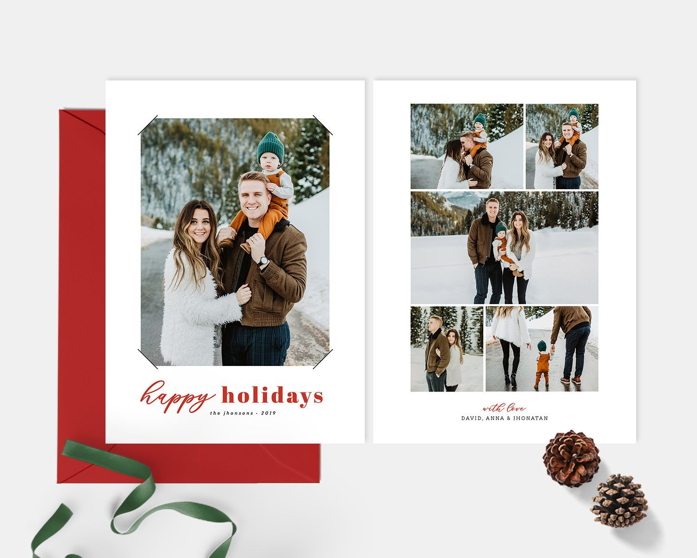 Christmas Card Free Shipping Holiday Card Template Christmas Etsy Christmas Cards Free Fun Christmas Cards Holiday Card Template
