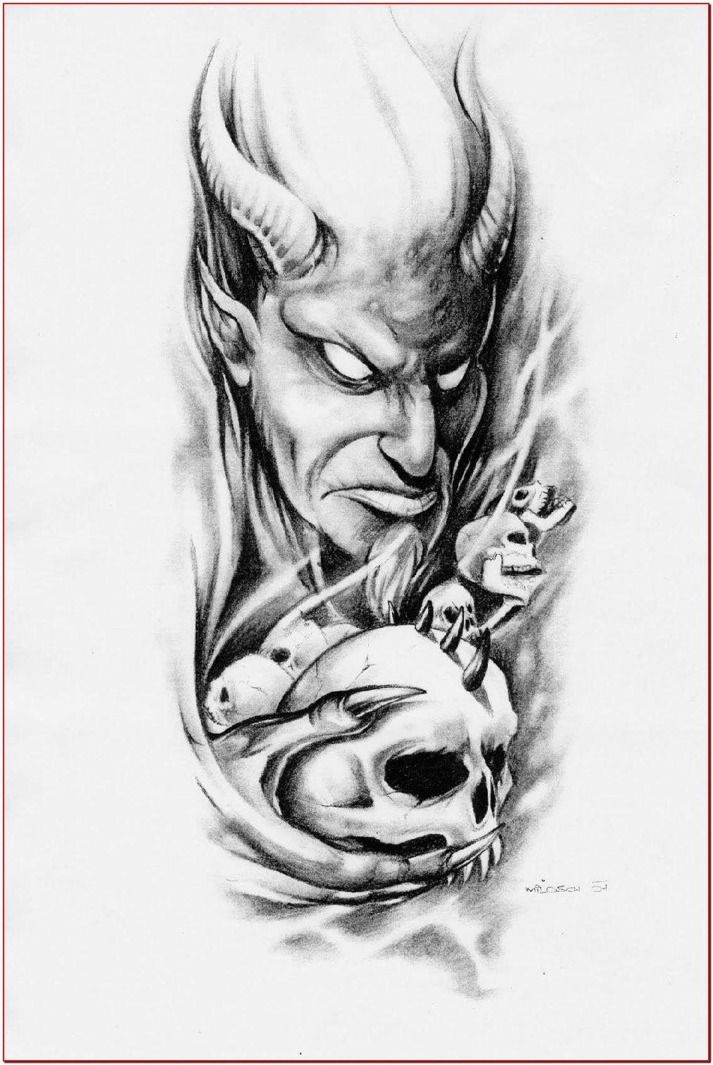 Tattoo Ideas For Men Arm 48 Tattoo In 2020 Scary Tattoos Skull Tattoo Design Evil Tattoos