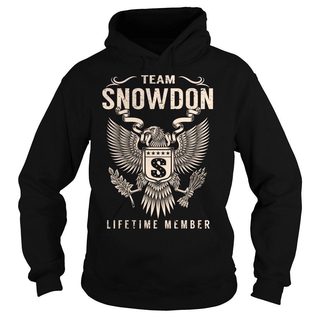 Team SNOWDON Lifetime Member - Last Name, Surname T-Shirt