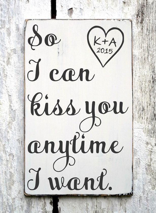 Wedding Gift Quotes Sayings: Personalized Wedding Sign Wedding Gift Ideas 18x12 So I