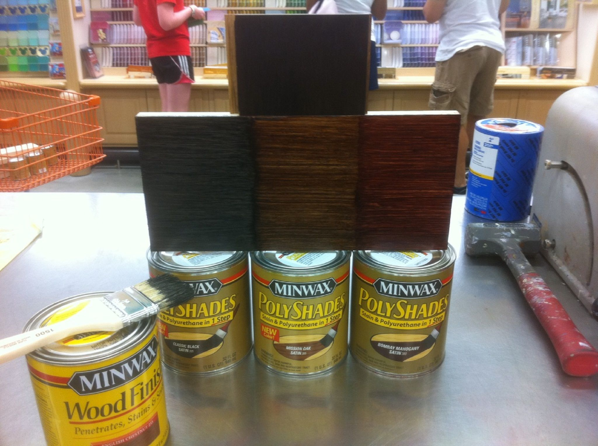 Want Faux Wood Grain? Use PolyShades Over Stain | The Home Depot Community