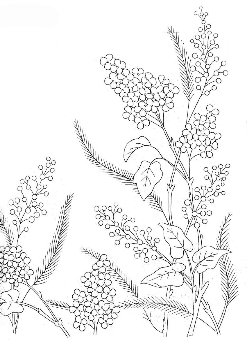Flower Embroidery Patterns Amazing Decorating
