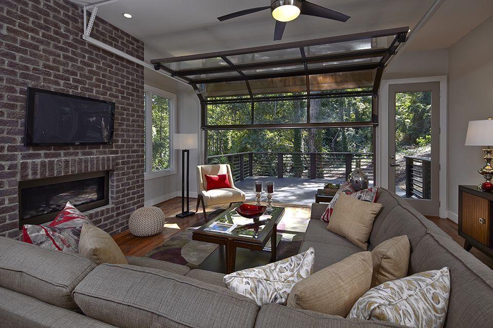 2020 Buzz Word In Home Design Sustainability In 2020 Glass Garage Door Garage Door Design Family Room Design