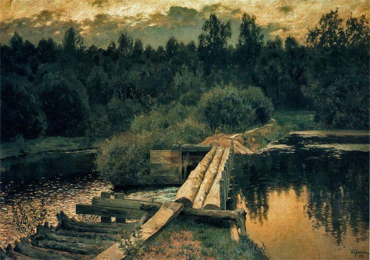 У омута.Иса́ак Ильи́ч Левита́н (3 (16) октября или 18 (30) августа 1860 — 22 июля (4 августа) 1900) — русский художник