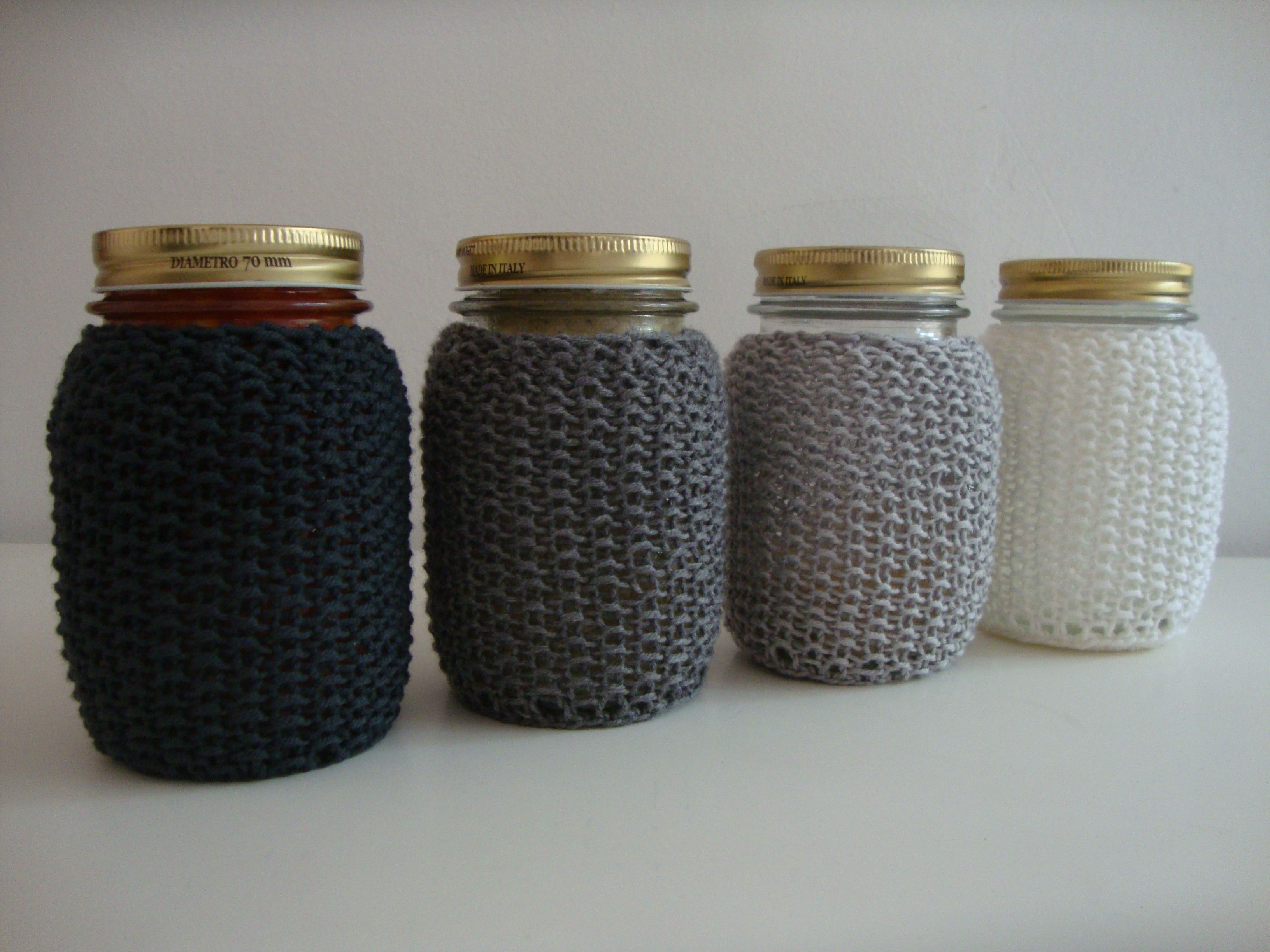 Mason Jar Cozies from Sugar For Your Lemons blog http://sugarforyourlemons.wordpress.com/2011/04/01/mason-jar-cozies/