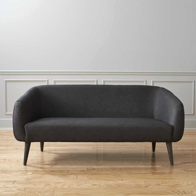 rue apartment sofa - Carbon   CB2   PROJECT: Office, Acupuncture ...
