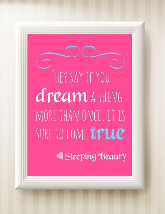 Nursery Sleeping Beauty Quote 8x10 INSTANT by ...