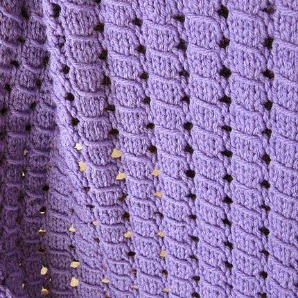 Hand Knitting Tutorials: Waffle Blanket - Free Knitting Pattern ...
