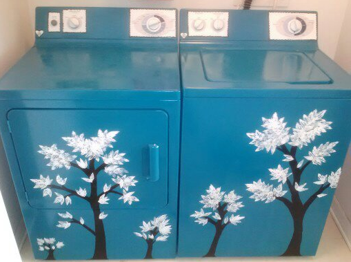 Spray Painted Then Free Handed My Now Awesome Washer And Dryer
