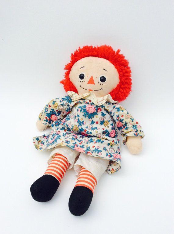 Vintage Rag Doll 1960 S Raggedy Ann Doll 12 I Etsy Vintage Rag Doll Raggedy Ann Doll Soft Dolls