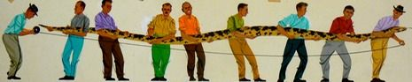 Charley Harper - A Python Grows as Long as it Lives