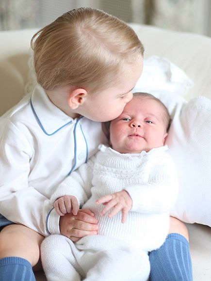 A Kiss from Prince George to Princess Charlotte! See All 4 Delicious Portraits of the Royal Siblings (PHOTOS) http://www.people.com/people/package/article/0,,20395222_20928827,00.html