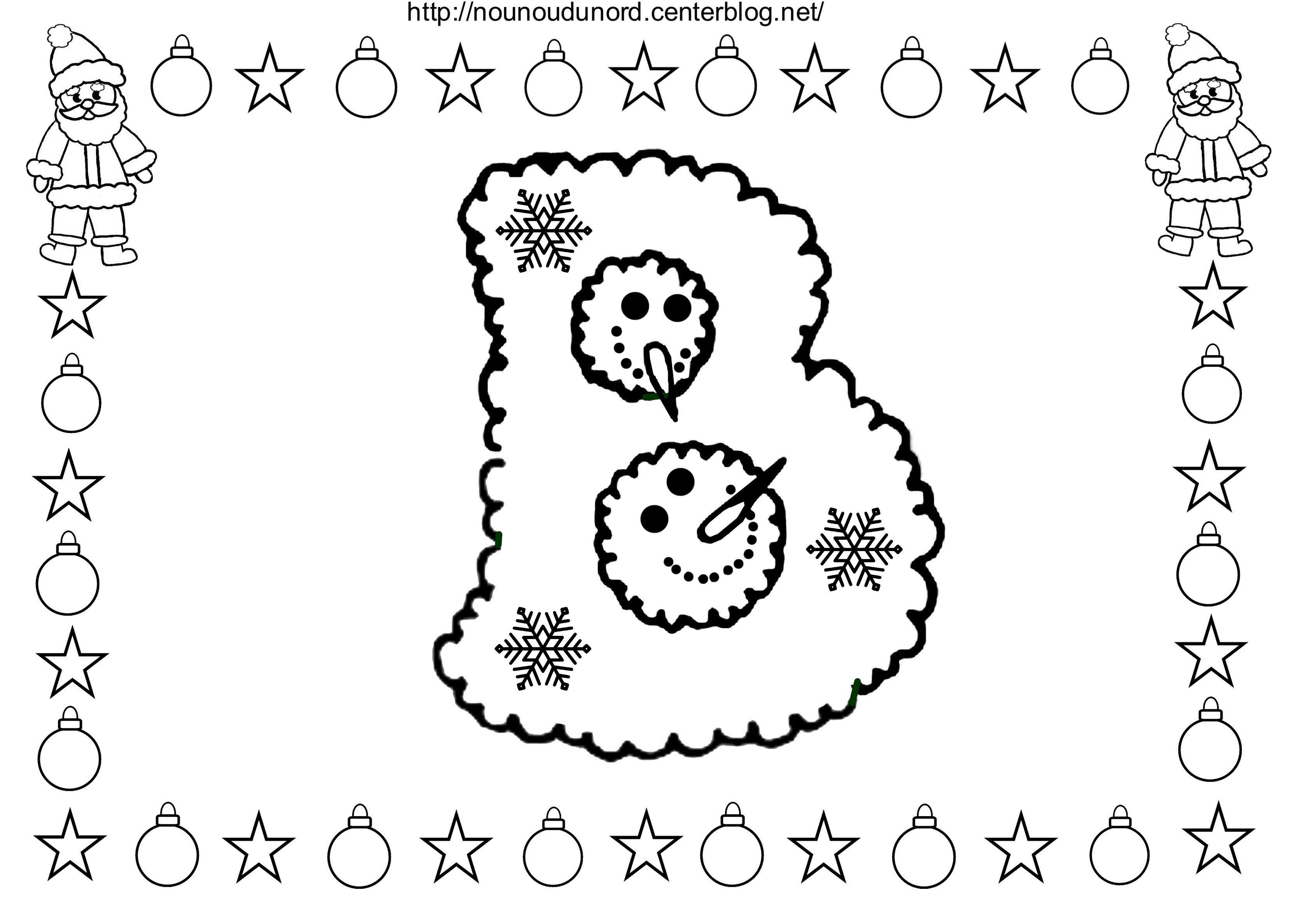 NOËL l'alphabet à colorier   Alphabet à colorier, Colorier ...